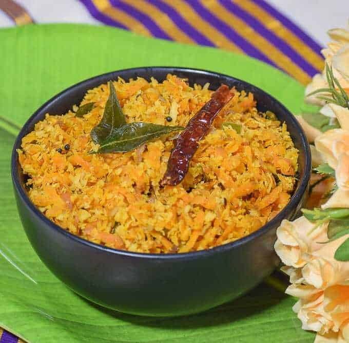Carrot Thoran for Onam Sadya