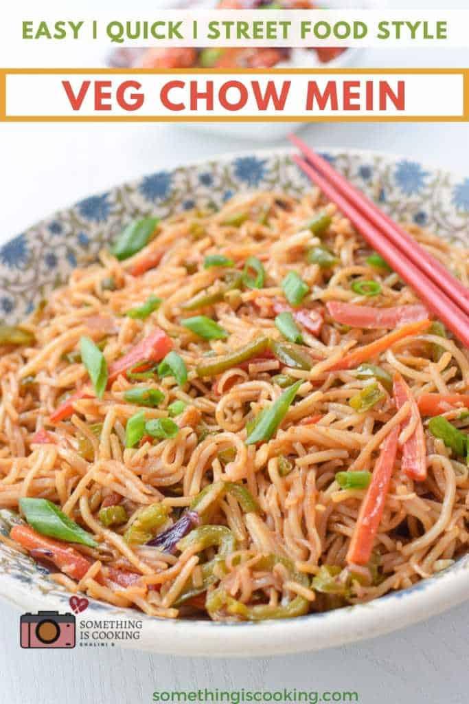 veg chow mein recipe street food style
