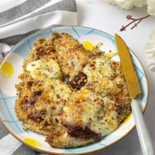 Healthy chicken parmesan in air fryer