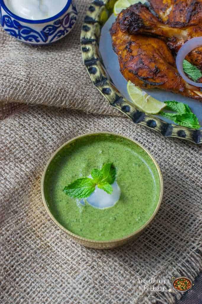 Dahi Pudina Chutney for Kabab Tikka Tandoori