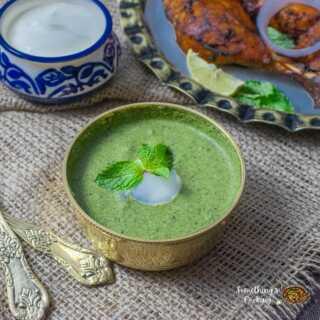 A bowl of Mint chutney for Tikka and Tandoori