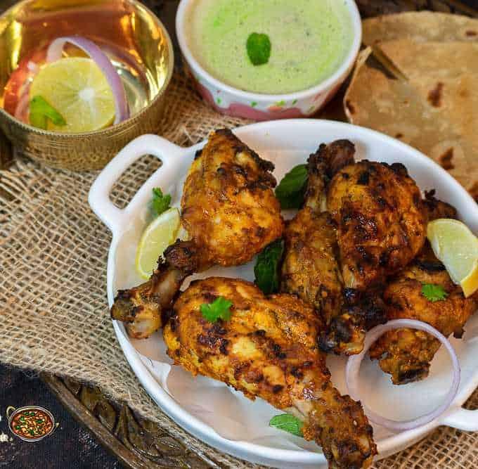 Chicken Tangdi Kebab in Air Fryer