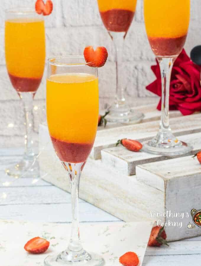 Non Alcoholic Strawberry Mimosa Recipe